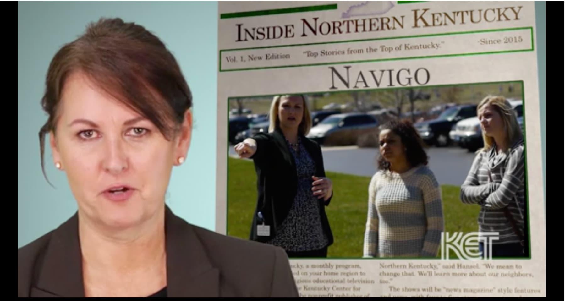 NaviGo newspaper feature